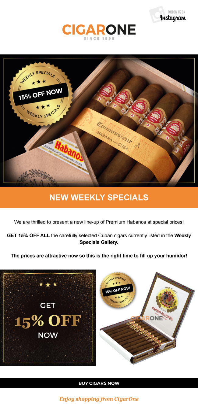 CigarOne Newsletter